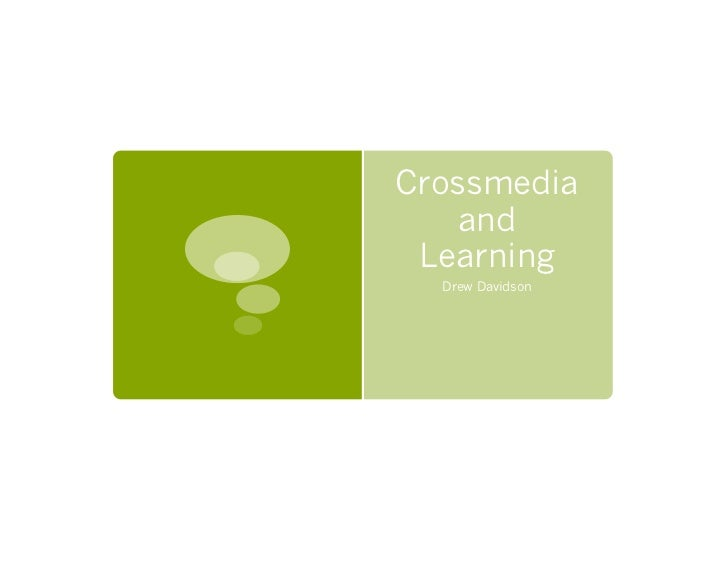 Crossmedia and Learning