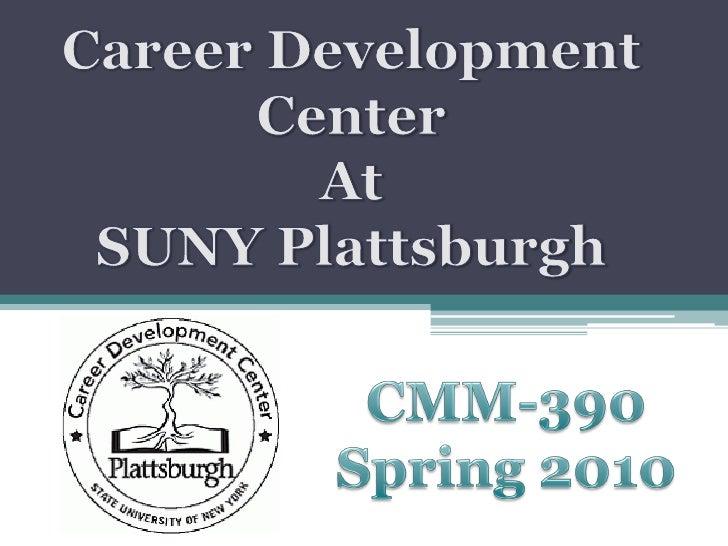 SUNY Plattsburgh Career Development Center Campaing