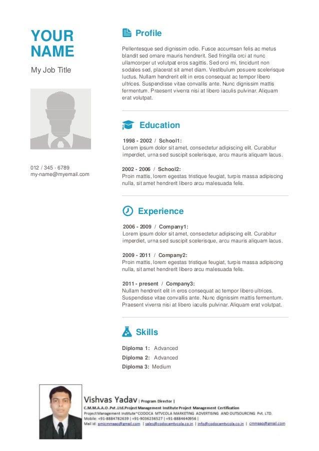 Cmmaao pmi-resume template-7