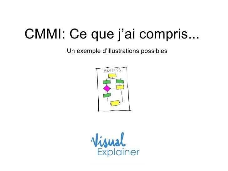 CMMI: Ce que j'ai compris...  Un exemple d'illustrations possibles
