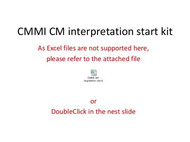 Cmmi configuration management interpretation kit