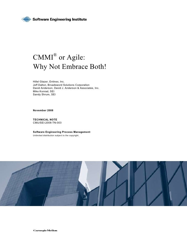 Cmmi Ior Agile Why Not Embrace Both