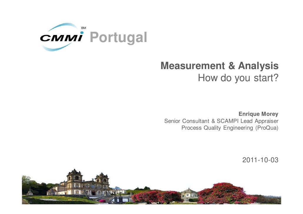 Measurement and Analysis, where do I Start? - Enrique Morey (Proqua)