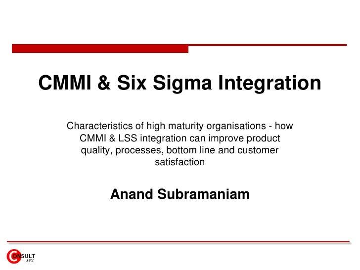 CMMI & Six Sigma Integration