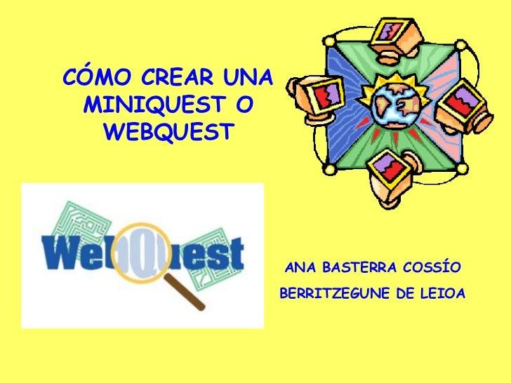Cómo crear una miniquest o webquest con PHPWebquest