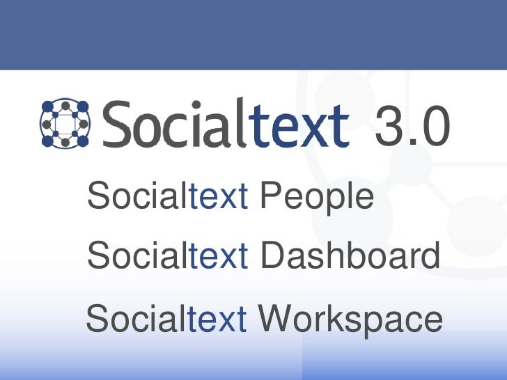 Socialtext 3.0 Demo