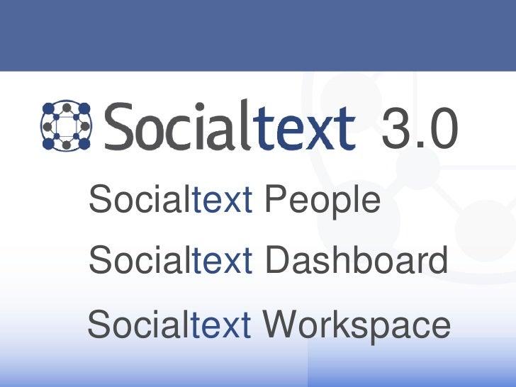 Socialtext 3.0 Demo