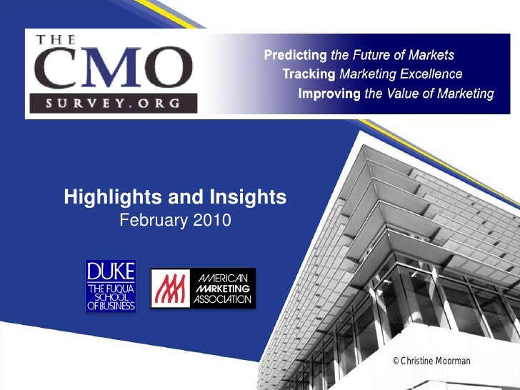Cmo Survey Highlights And Insights February 2010