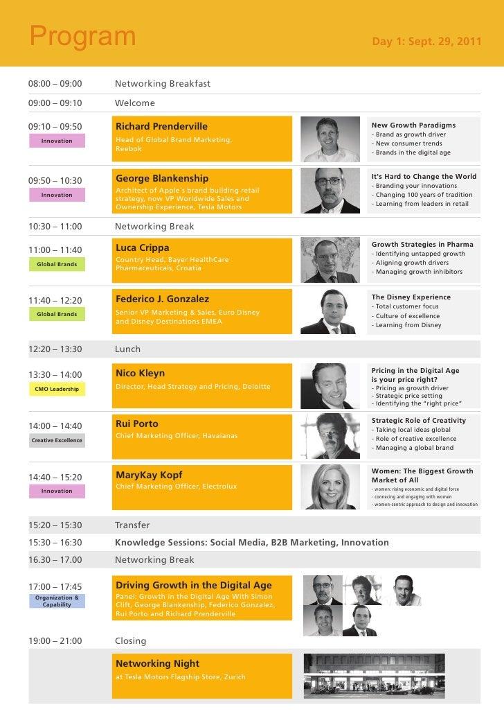 European CMO Conference - Program