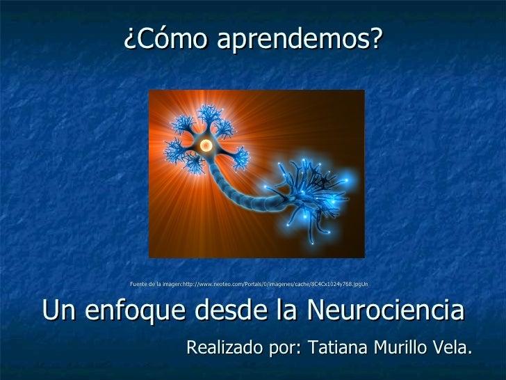 ¿Cómo aprendemos? Fuente de la imagen:http://www.neoteo.com/Portals/0/imagenes/cache/8C4Cx1024y768.jpgUn   Un enfoque desd...
