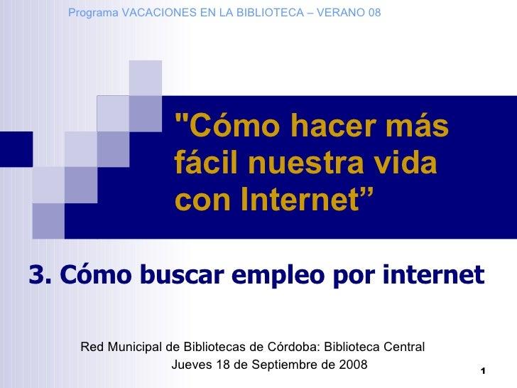 CóMo Buscar Empleo Por Internet