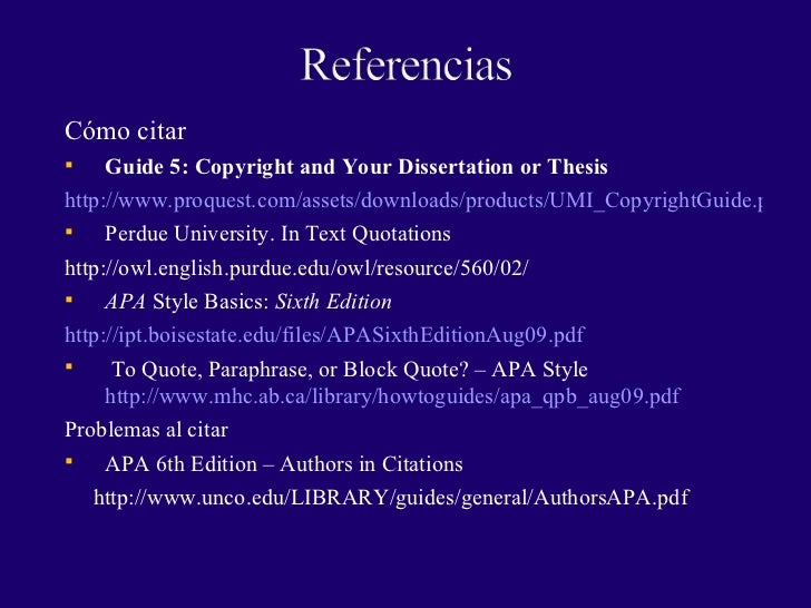 apa for dissertations 6th edition