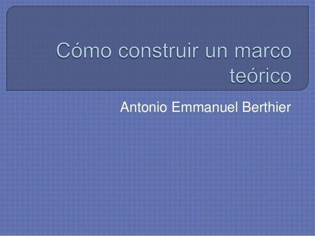 Antonio Emmanuel Berthier