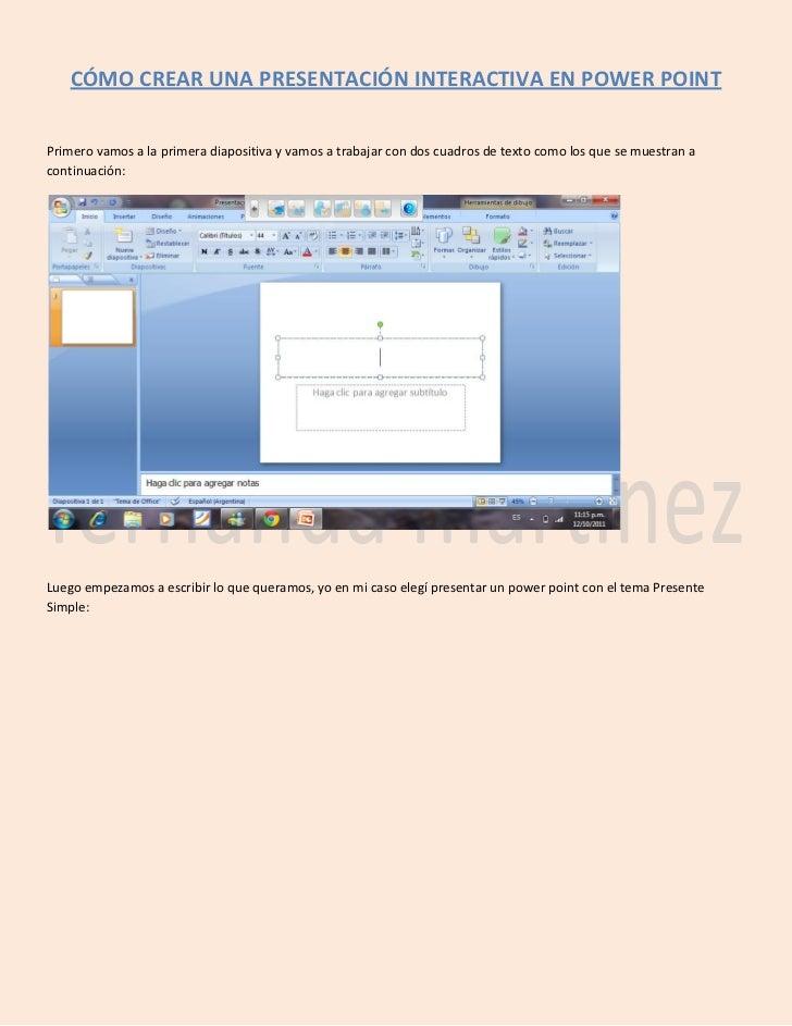 Cómo crear una presentación interactiva en power point