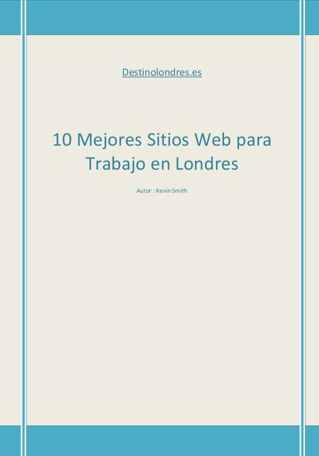 10 Mejores Sitios Web para Trabajo en Londres