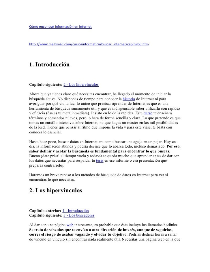 CóMo Encontrar InformacióN En Internet