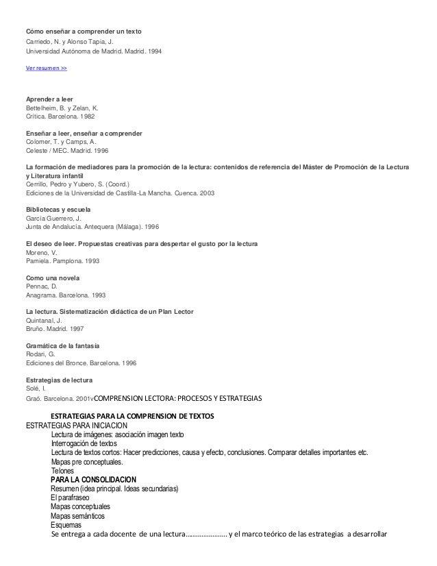Cómo enseñar a comprender un textoCarriedo, N. y Alonso Tapia, J.Universidad Autónoma de Madrid. Madrid. 1994Ver resumen >...