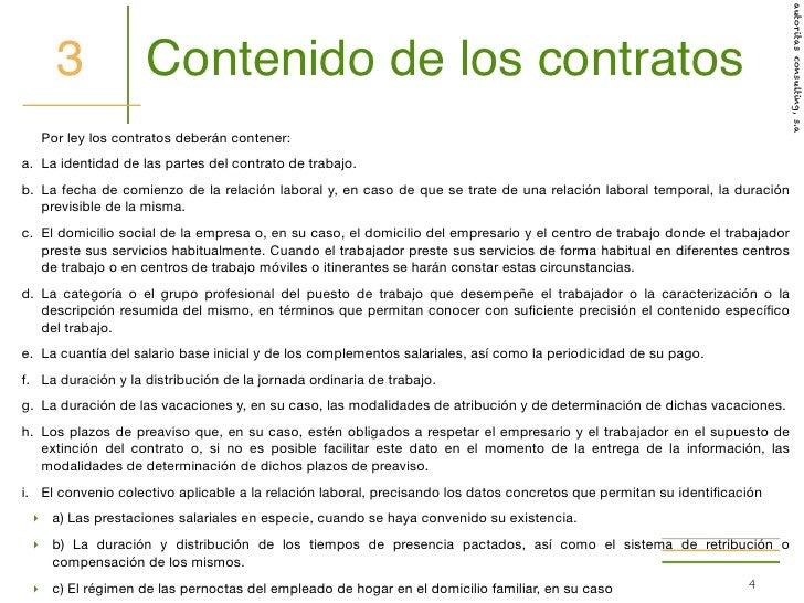 El contrato del empleado del hogar tribbius integraci for Contrato empleada hogar