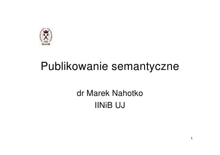 Publikowanie semantyczne
