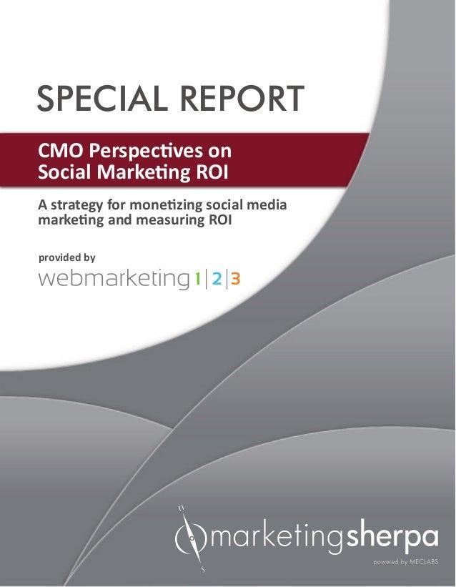 CMO perspectives on social marketing web marketing 123
