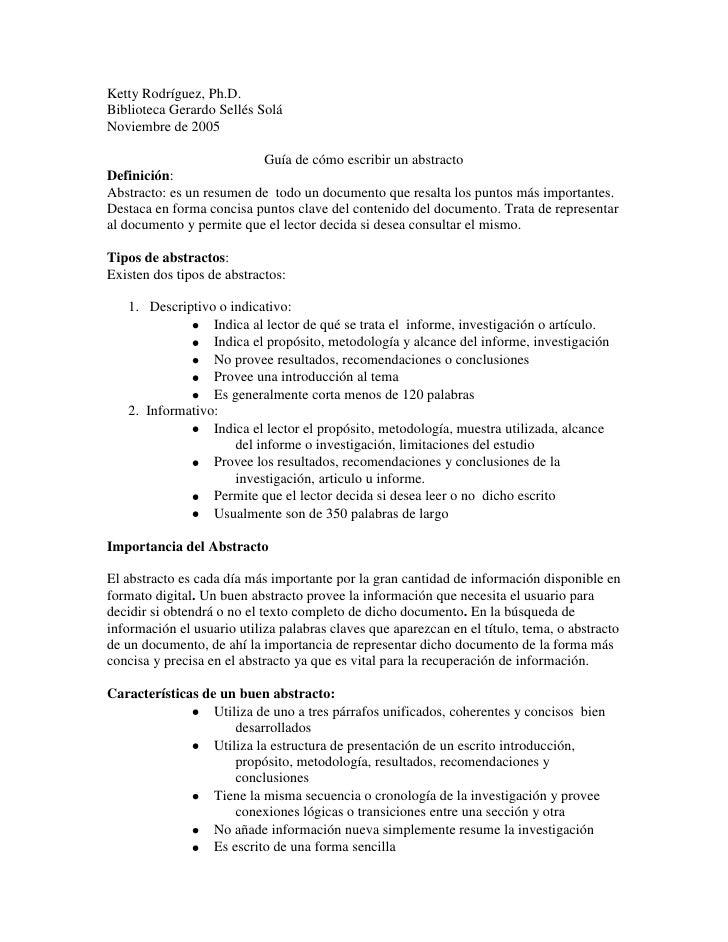 Ketty Rodríguez, Ph.D. Biblioteca Gerardo Sellés Solá Noviembre de 2005                            Guía de cómo escribir u...