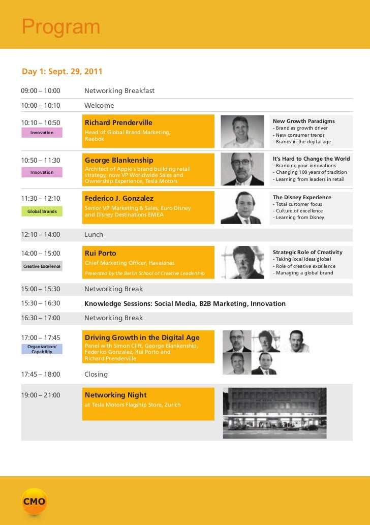 4th European CMO Conference 2011