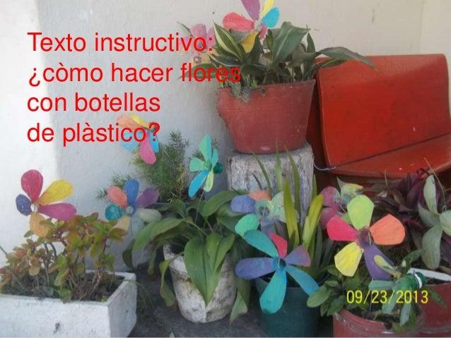 ¿Còmo hacer flores con botellas de plàstico?