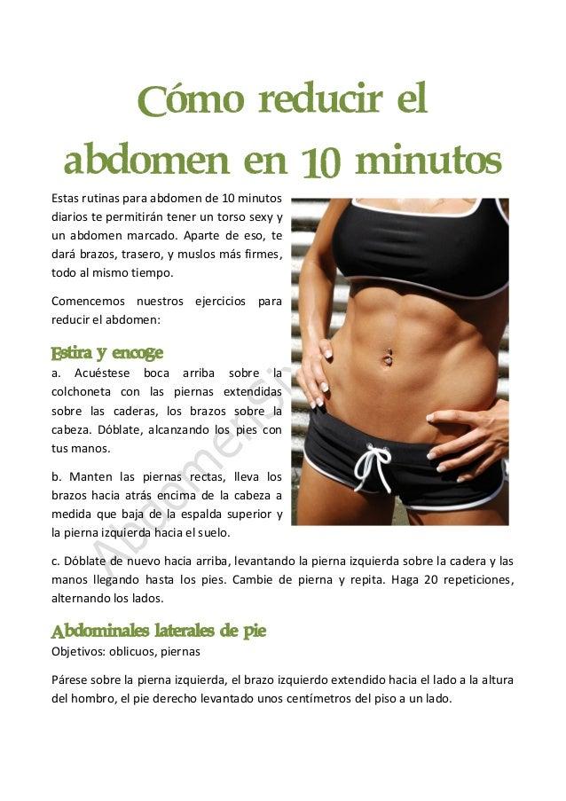 Cómo reducir el abdomen en 10 minutos