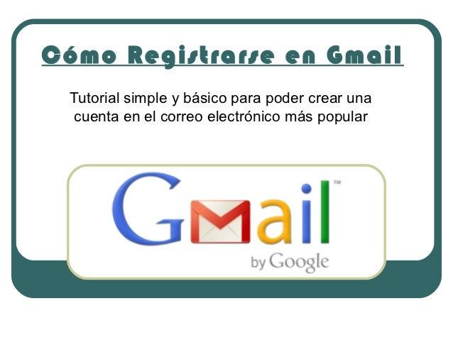 Cómo registrarse en gmail