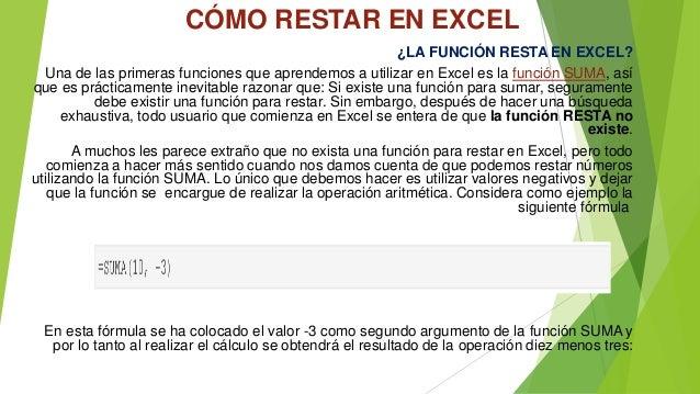 CÓMO RESTAR EN EXCEL  ¿LA FUNCIÓN RESTA EN EXCEL?  Una de las primeras funciones que aprendemos a utilizar en Excel es la ...