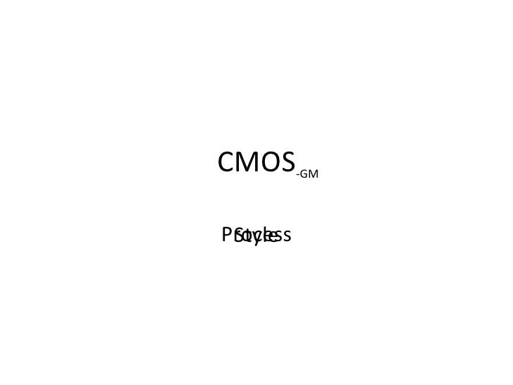 CMOS Introduction