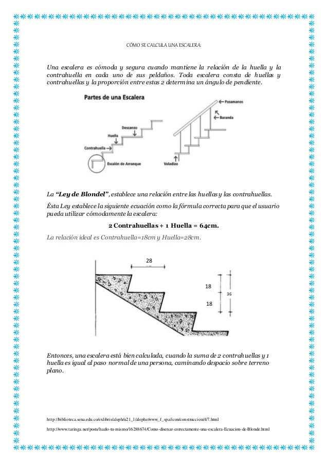 C mo se calcula una escalera for Como cubrir una escalera
