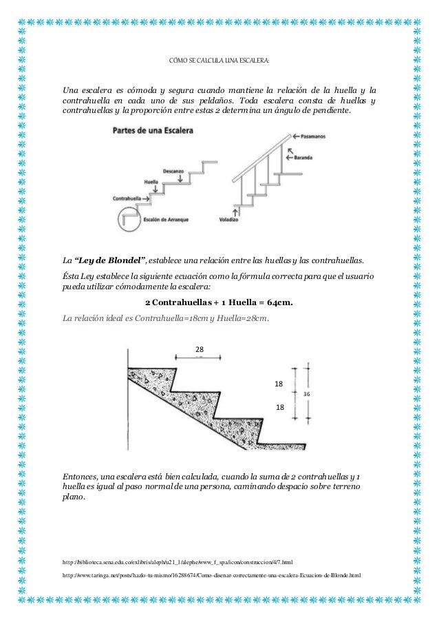 c mo se calcula una escalera