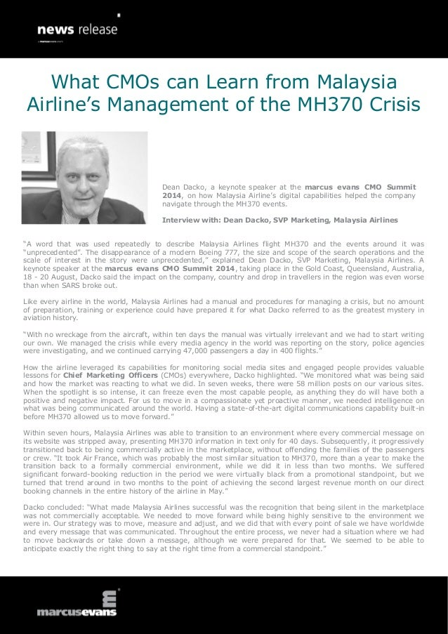 """""""A word that was used repeatedly to describe Malaysia Airlines flight MH370 and the events around it was """"unprecedented"""". ..."""