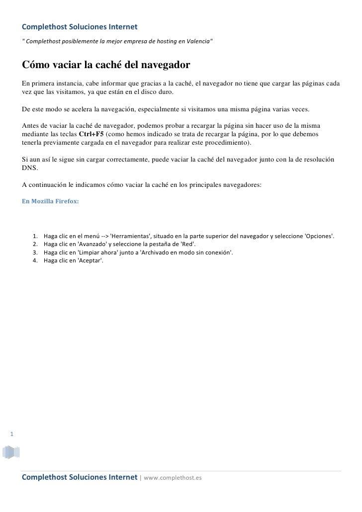 """Complethost Soluciones Internet     """" Complethost posiblemente la mejor empresa de hosting en Valencia""""       Cómo vaciar ..."""