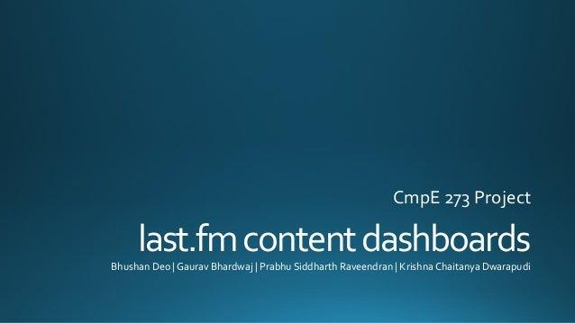 lastfm contentdashboards project description