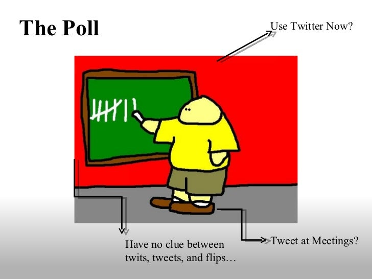 Use Twitter Now? Tweet at Meetings? Have no clue between twits, tweets, and flips… The Poll