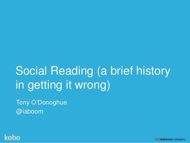 CMPTO: Social reading at Kobo