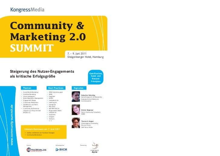 Community &Marketing 2.0SUMMIT                                                                                        7. –...