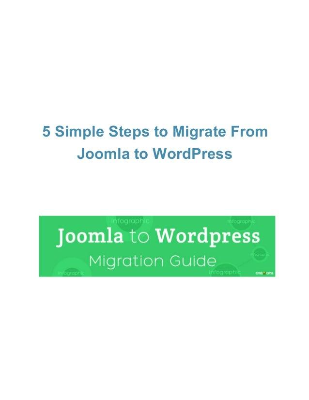 Joomla to WordPress Migration Guide