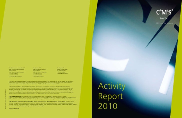 CMS Derks Star Busmann Activity Report 2010