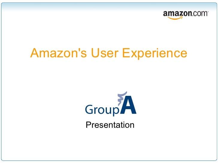 Amazon's User Experience