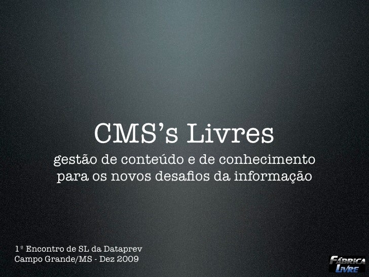 CMS Livres na Dataprev