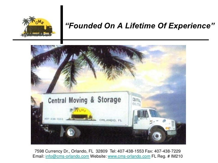 """""""Founded On A Lifetime Of Experience""""<br />7598 Currency Dr., Orlando, FL  32809  Tel: 407-438-1553 Fax: 407-438-7229 <br ..."""