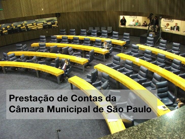 Prestação de Contas daCâmara Municipal de São Paulo