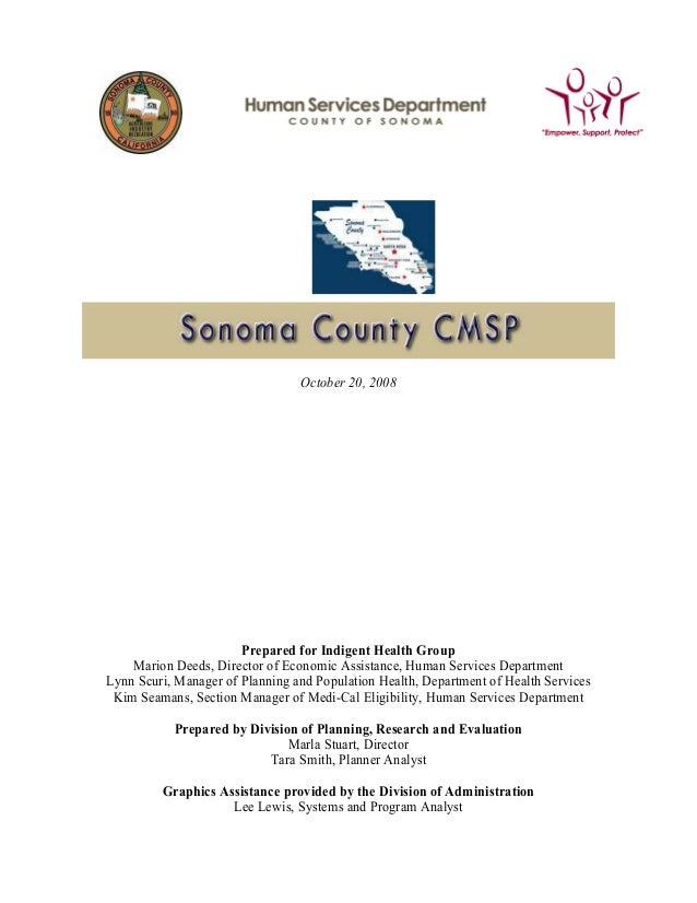 Sonoma County Medical Services Program (2008)