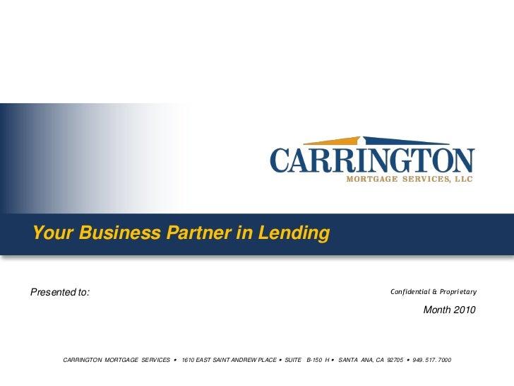 Your Business Partner in Lending<br />Month 2010<br />