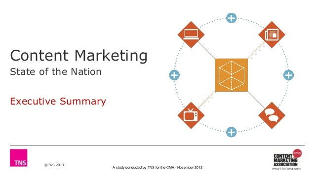 ©TNS 2013 A study conducted by TNS for the CMA - November 2013 www.the-cma.com Content Marketing State of the Nation Execu...