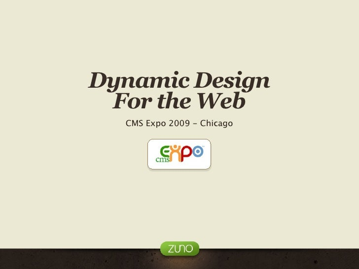Dynamic Design for the Web