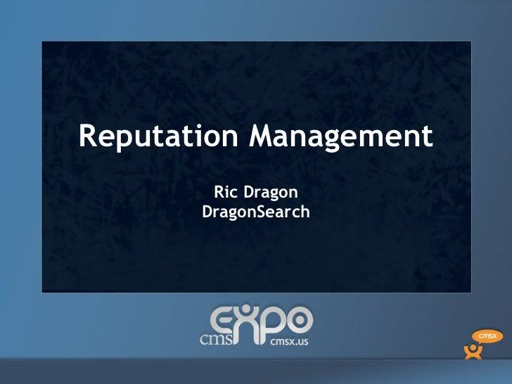 Reputation  Management Ric Dragon DragonSearch